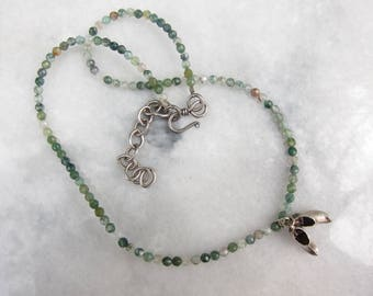 Vintage Sterling Shoes with Jade Gemstone Necklace, Two Girls Gems