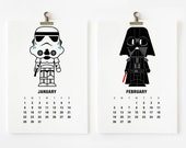SALE 20% OFF 2017 Calendar Star Wars, Christmas Gift, Children Room Decor, New Year Gift
