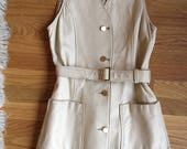 Vintage 1960s White Leather Minidress