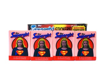 4 Supergirl Trading Card Packs by Topps 1984