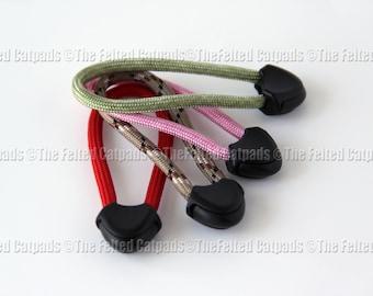 4 Paracord Zipper Pulls Nexus Standard Aerohead - Fits Bags Gear Totes Luggage U PICK COLORS