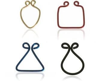 80s Jewelry - Triangle Septum - Square Piercing - Spade Septum - Fake Septum Ring - Faux Septum Ring - Geometric Jewelry - Spike Septum