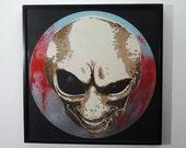 Alien art on vinyl record - limited edition of 33 - framed or unframed - GLOWS under UV light