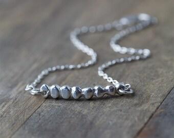 Silver Nuggets Bracelet, Gift for Women, Sterling Silver Jewelry, Wife Gift for Her, Womens Jewelry, Friend Gift, Burnish