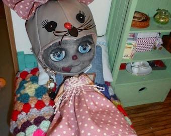 Blythe Cute OOAK Mouse Helmet & Dress (BD4917)
