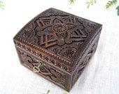 Jewelry box Wooden box Ring box Jewelry Jewelry holder Jewelry organizer Jewelry storage Lock wooden jewelry box Black ring jewelry box B2