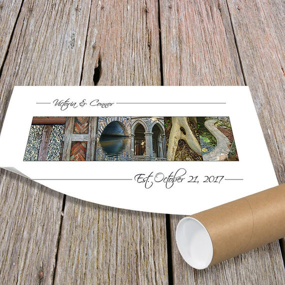 Wedding Shower Gift, Anniversary Gift, Gift for Couples, Alphabet Art Photos, Last Name Sign, Unframed Print, Personalized Wedding Gift