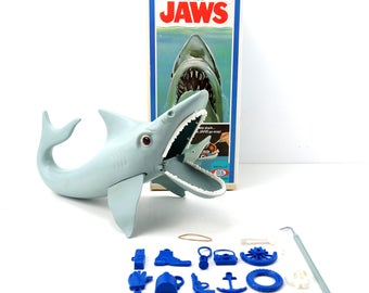 "Vintage ""The Game of Jaws"" Shark Game from Ideal (c.1975) - Collectible Game, Shark Week Decor, Shark Party Oddity"