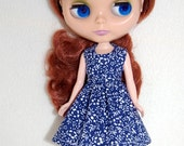 New Years Sale Navy/White Dress for Blythe -  A4B051