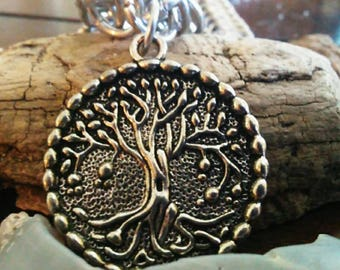 Chainmaile Necklace with a Unique Tree of Life Pendant
