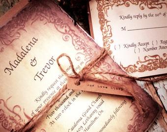 Medieval wedding Invitation (FREE SHIPPING PROMO)