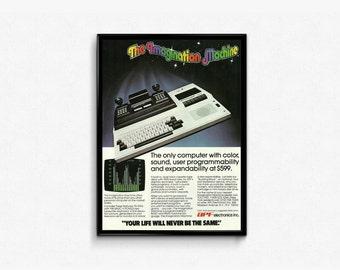 The Imagination Machine Ad • APF Electronics Inc • Retro Game Console Sign • Nerdy Office Art Advert • 70s Gaming Platform Advertisement