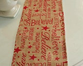 Believe Christmas Table Runner