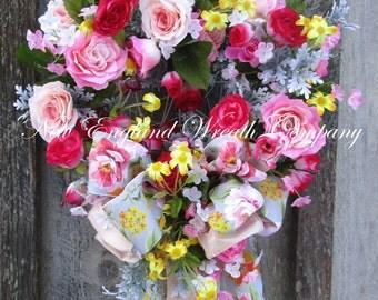 Heart Wreath, Valentine's Wreath, Elegant Valentine Wreath, Spring Wreath, Victorian Wreath, Country French, Easter Wreath, Designer Wreath