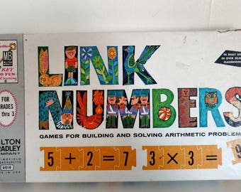 1963 Milton Bradley Link Numbers – Games for building and solving arithmetic problems