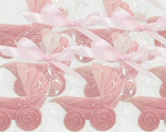 Baby Shower Favors - Choose Color- Shower Favors - Personalized Baby Buggy