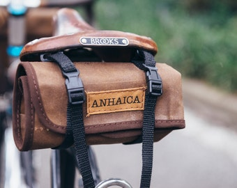 Bicycle tool roll - light brown waxed canvas
