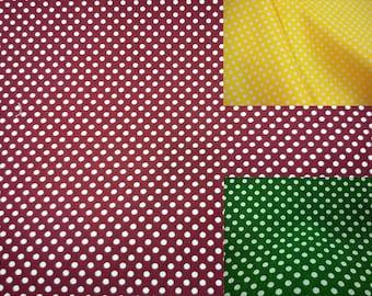 Small off-white polka dots, 1/2 yard, pure cotton fabric