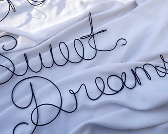 Sweet Dreams Sign,  Bedroom Wall Decor, Extra LARGE Wire Art
