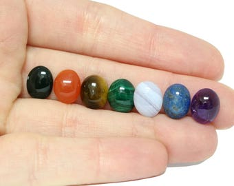 Chakra Cabochon Set - 7 Natural 10x8 Gemstones