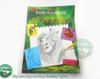 Vintage 90s Disney's How to Draw the Lion King Book
