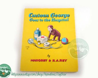 Vintage Curious George Goes to the Hospital Book 1970s Paperback