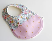 "Baby Bib / French Designer ""Auguste et Penelope"" & Liberty of London ""Betsy"" / Cotton 100% / Baby Shower <2077>"