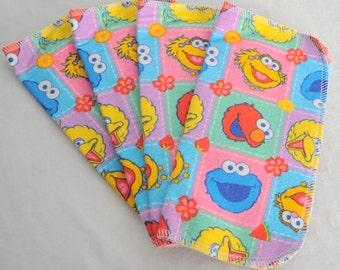 4 Pack - Sesame Street Flannel Cloth Diaper Wipes
