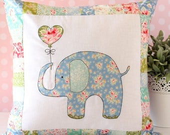 Ella The Elephant Pillow PDF Sewing Pattern