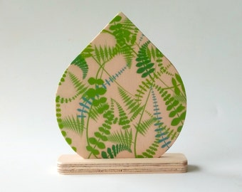 Objectify Reuseable Natural Air Freshener Disc - Fern Pattern
