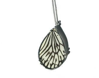 Real Rice Paper Butterfly Wing Necklace