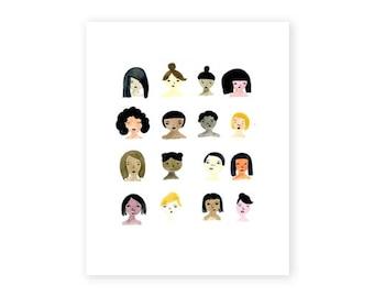 We are Female, Fine Art Print, 8x10