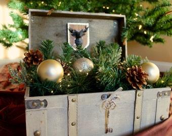 Christmas Holiday Lighted Display Box / Christmas Table Display / Christmas Trunk Decor / Christmas Decorations / Home & Living / Home Decor
