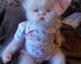 Reborn Custom made to order Yeti Abominable snow baby lifesize newborn baby doll Sasquatch