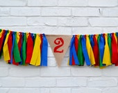 Second Birthday Boy - UNO birthday banner - UNO party - Boy 2nd birthday - boy high chair banner - Sesame Street Banner - Boy 1st