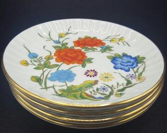 Aynsley Bone China Famille Rose Coasters