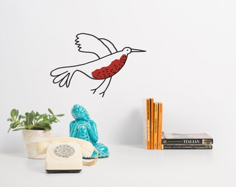 Wall Decal - The Red Bird