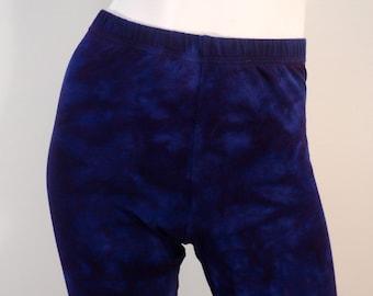Plus size 1X tie dye Bamboo/Cotton/Spandex Leggings.