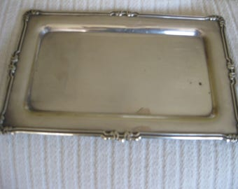 Silver Plated Vintage Small Rectangle Tray Hallmarked