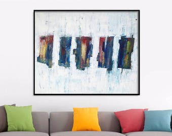 60x48 Large abstract painting Original abstract painting Canvas painting Large canvas art Original painting Large Wall Art large painting