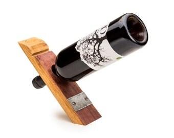 Barrel Stave Balancing Wine Bottle Holder