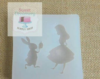 Alice & the white rabbit mold