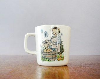 Vintage Figgjo Flint Child's Cup Egner Norwegian Fairy Tale Hakkebakkeskogen