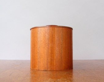 Mid Century Teak Storage Canister / Container / Jar