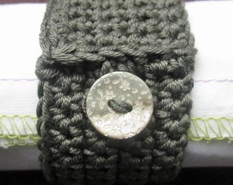 Crochet Pattern for Another Button Napkin Ring