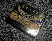 1930s Ex Lax Tin Chocolate Laxative Constipation
