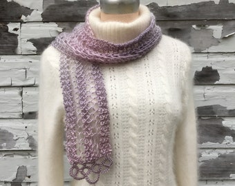 Ombre Lace Accent Scarf - Three Color Options
