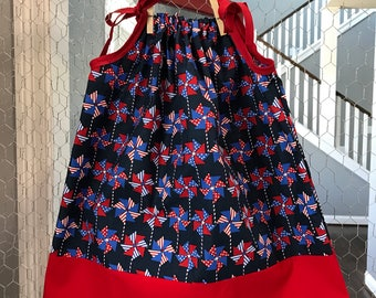 4th of July Pillowcase Dress
