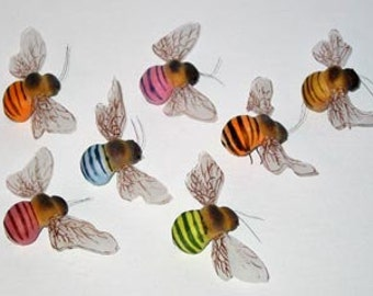 12 pc 3 Inch Festive Craft Bee (Noah) Foam Bees, Party Bees, Bee Costume, Bee Hat