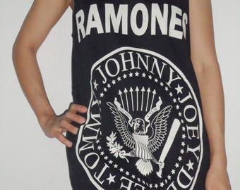 The Black Ramones Lady Singlet T-Shirt Mini dress